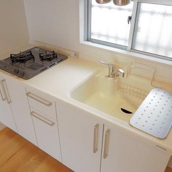 【イメージ】可愛らしい白キッチン♪