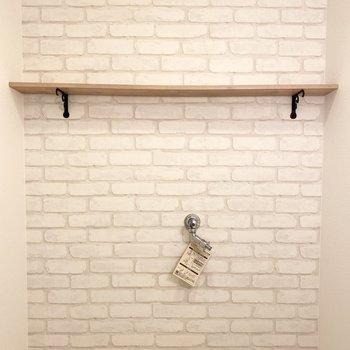 上には棚もあって、洗剤や生活用品もスッキリと置けちゃいますよ。