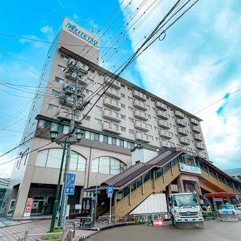 犬山駅直上のマンション。こちらの一室をフルリノベーションしたお部屋です。