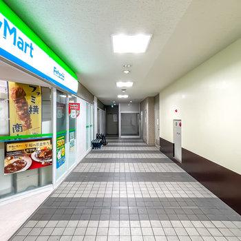 また、エントランスは1階だけではなく、駅の改札口に直結している出入り口も。