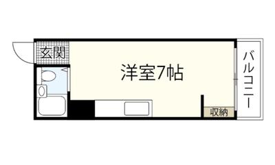 岡本ビル(舟入川口町)の間取り図