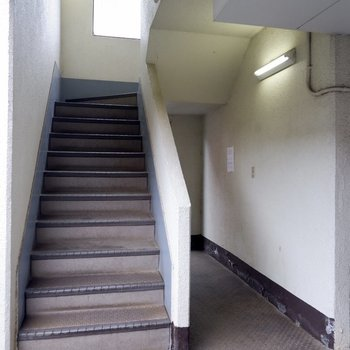こちらの階段をご利用ください。