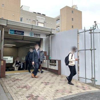 東西線早稲田駅は3a口が近かったですよ。
