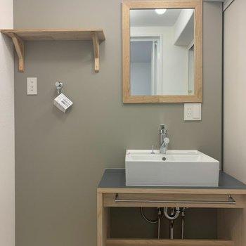 【イメージ】独立洗面台と洗濯パンは横並び