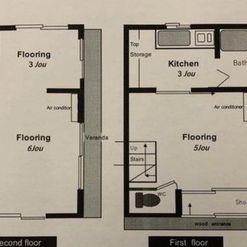 生活スペースを分けられる戸建てプラン。