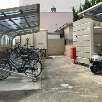 駐輪場もオートロック内にありました!