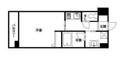 エムティースクエア吉塚駅前の間取り