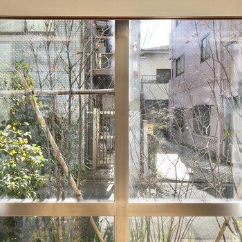 南側の窓からは道路が見えました。