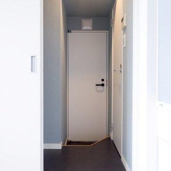 サニタリーを見ていきましょう※写真は4階の似た間取り、別部屋のもの