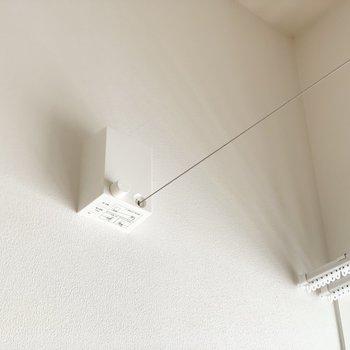 室内物干し用のワイヤーもあります◎