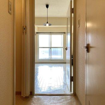 玄関から見るとこんな感じ。 光が入ってくるのがわかります。