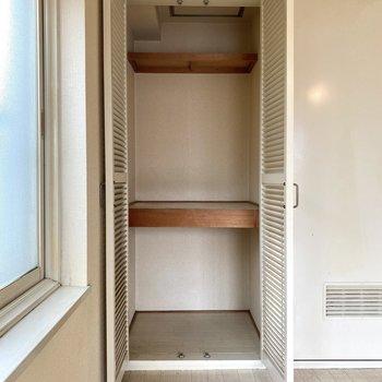 収納スペースは、2段に分かれていて整理整頓もしやすそう。
