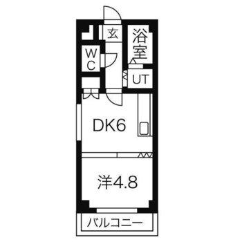 ベランダ付きです◎ 仕切りやドアはありませんが、1DKとしても使っていただけます。