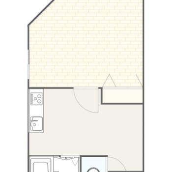 1人暮らしにぴったりな1Kのお部屋です。