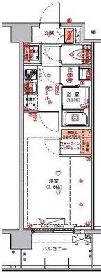 ハーモニーレジデンス東京アーバンスクエア#002の間取り
