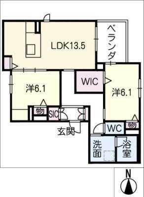 仮)JA賃貸中川区戸田4丁目の間取り