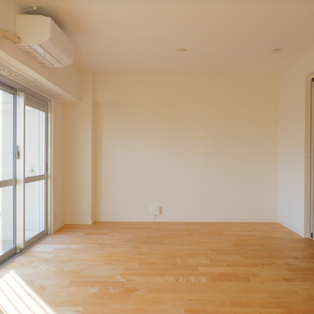 イメージ】リビングと寝室はスライドドアなので開放してワンルームっぽくもできそうです!