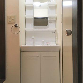 洗面台、しっかり独立型。※写真は前回募集時のものです