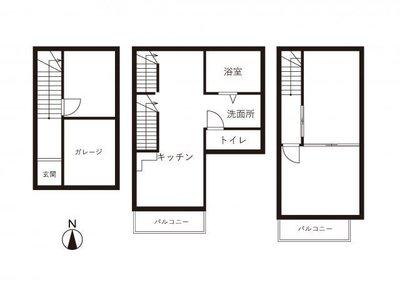 北新宿テラスハウス 中央棟の間取り