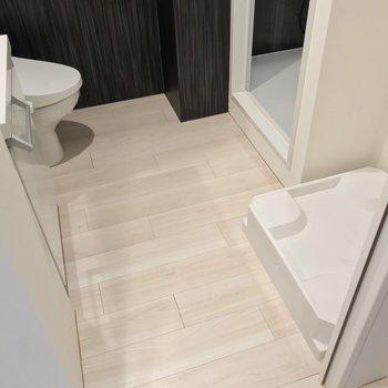 これくらいの広さ。トイレもこちらにあります。(※写真は2階の同間取り別部屋のものです)
