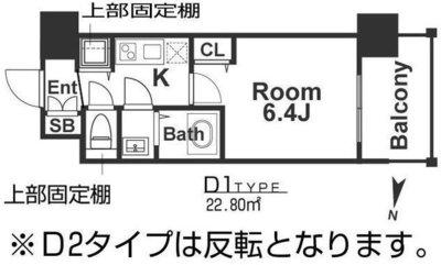 アドバンス新大阪ウエストゲートⅡの間取り