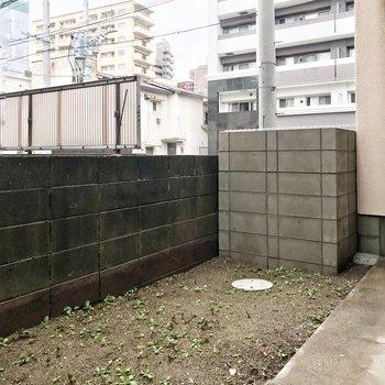 掃き出し窓の外には専用庭!ハーブなんかを育ててみるのもいいかも。
