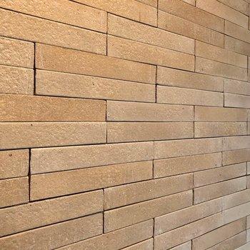 タイルの壁は質感もいいんですよ。