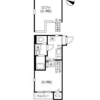 居室、ロフトほぼ同じ大きさですね。