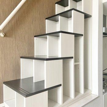 階段は小さいものなら収納できる仕様に! ※写真は通電前のものです