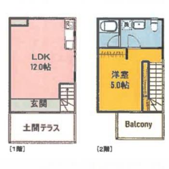 お部屋はメゾネット。2階はベットスペースにしよう。