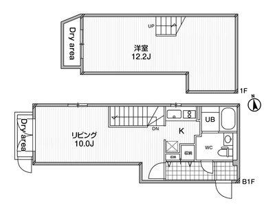 ルクレ東新宿の間取り