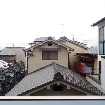 高い建物がなくて、のんびりとした雰囲気。さすが京都!