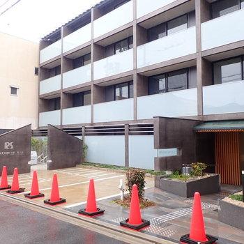 【共用部】駐輪場は建物前に。