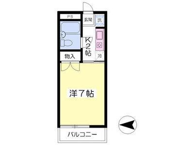 エクセル新横浜Aの間取り