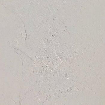 白い壁には漆喰。自然な吸放湿と消臭性能があります。