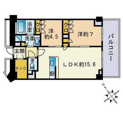 ザ・パークハウス福岡タワーズEASTの間取り