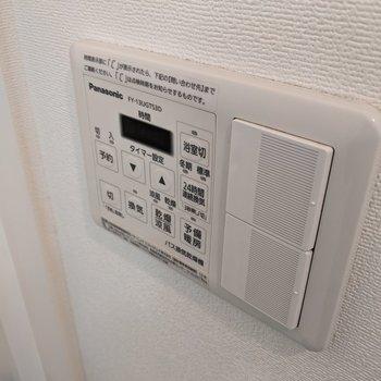 雨の日や冬でも乾かすことができる浴室乾燥機。