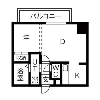 生活のしやすそうな1DKのお部屋。