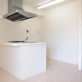 たっぷりスペースがとられた自慢のキッチンです。