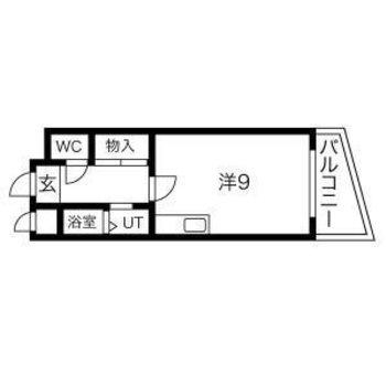 居室は広めの9帖!充実のひとり暮らしを。