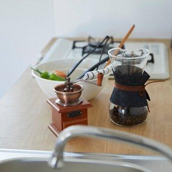 コーヒー器具も映えますね〜(※小物はサンプルです)
