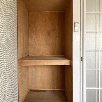 【洋室①】コンパクトめな収納。衣装ケースなどを使ってたっぷり収納しましょ。