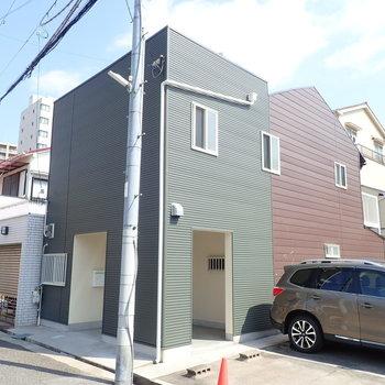 和菓子屋さんみたいな色のお家!
