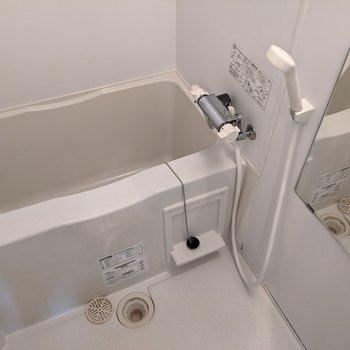 ゆったりと浴槽に入れますね。