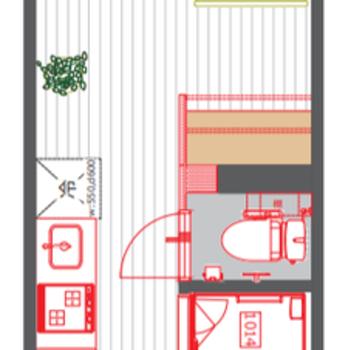 廊下を含まない居室部分が約5.6帖となります。