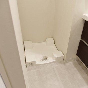 サイドには洗濯機置場がありました。