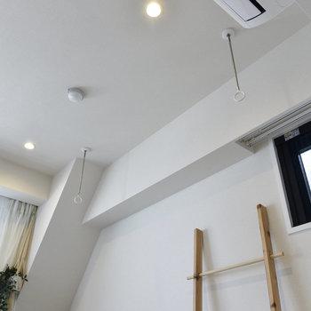 室内物干しで雨の日のお洗濯も安心ですよ。