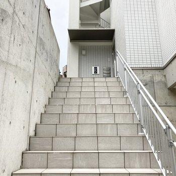 美術館の入り口の様な階段。