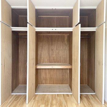 【洋室3】とってもたっぷりサイズの収納!寝室などにいいかもしれませんね。