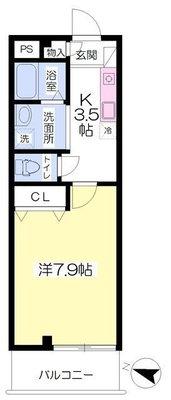 新横浜ハイツⅢ号館の間取り